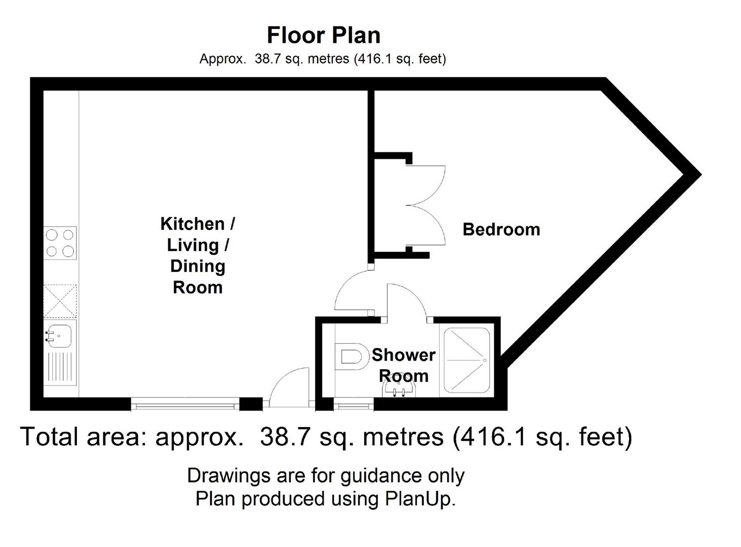Floor plan Victoria Avenue, Cambridge